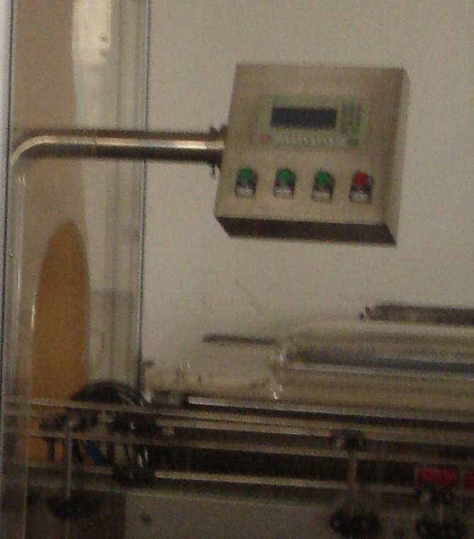 双计量全自动定量食用油灌装机操控台